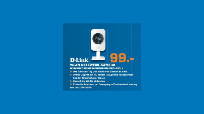 D-Link DCS-935L mydlink Home Monitor HD © Saturn