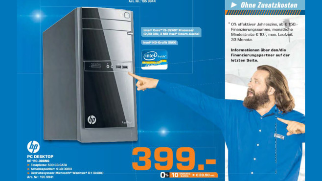 HP Desktop PC 110-386 © Saturn