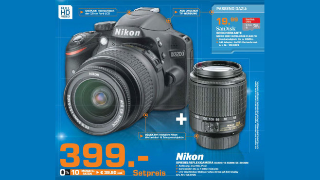 Nikon D3200 Kit 18-55 mm + 55-200 mm © Saturn