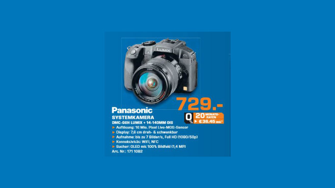 Panasonic Lumix DMC-G6 Kit 14-140 mm © Saturn