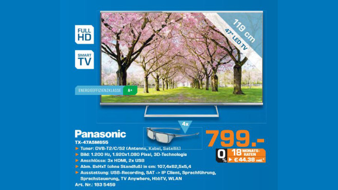 Panasonic TX-47ASM655 © Saturn