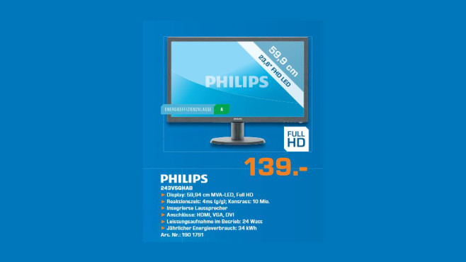 Philips 243V5QHAB © Saturn