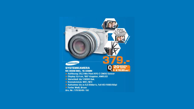 Samsung NX300M Kit 18-55 mm © Saturn