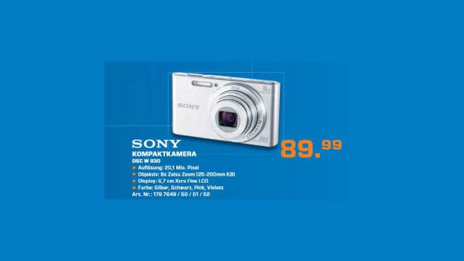 Sony Cyber-shot DSC-W830 © Saturn