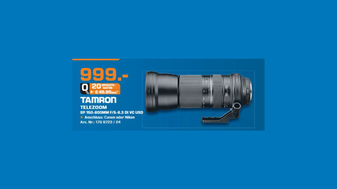 Tamron SP 150-600mm f5-6.3 Di VC USD © Saturn