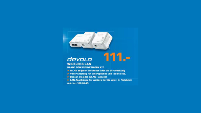 devolo dLAN 500 WiFi Network Kit © Saturn