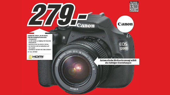 Canon EOS 1200D Kit 18-55 mm [Canon DC III] © Media Markt
