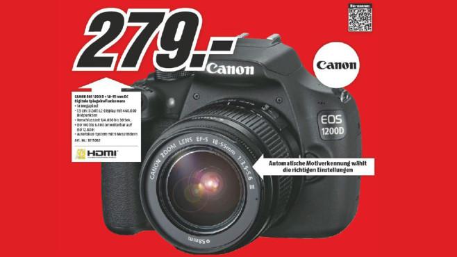 Canon EOS 1200D Kit 18-55 mm [Canon DC III] ©Media Markt