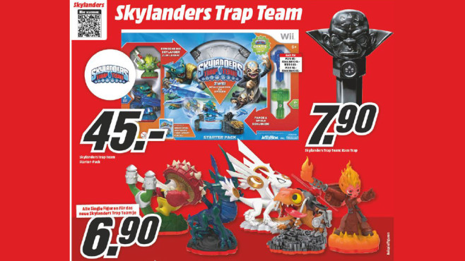 "Figuren für ""Skylanders: Trap Team"" © Media Markt"