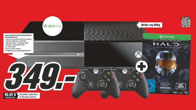 Microsoft Xbox One + Halo – The Master Chief Collection + Controller ©Media Markt