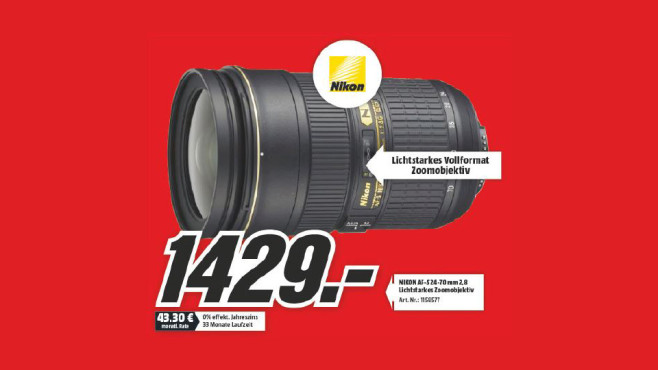 Nikon AF-S Nikkor 24-70mm f2.8 G ED ©Media Markt