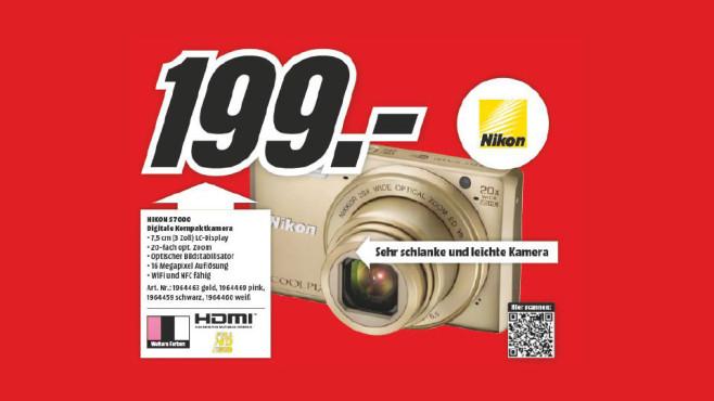 Nikon COOLPIX S7000 ©Media Markt