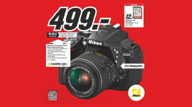 Nikon D5300 Kit 18-55 mm [Nikon VR II] © Media Markt