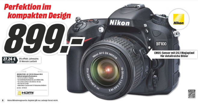 Nikon D7100 Kit 18-55 mm © Media Markt