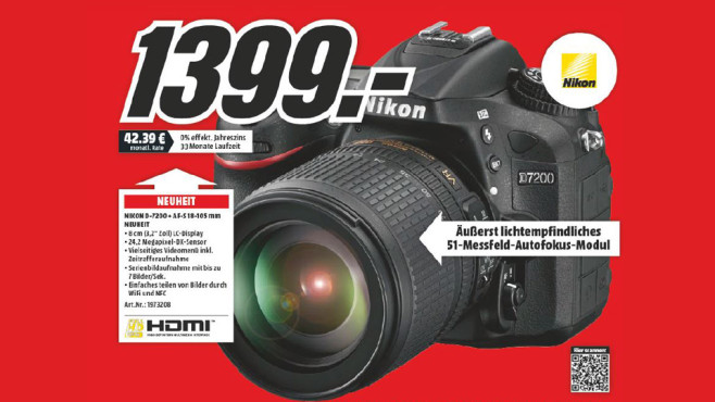 Nikon D7200 Kit 18-105 mm © Media Markt
