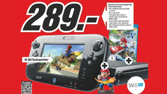 Nintendo Wii U Mario Kart 8 Premium Pack + Amiibo ©Media Markt