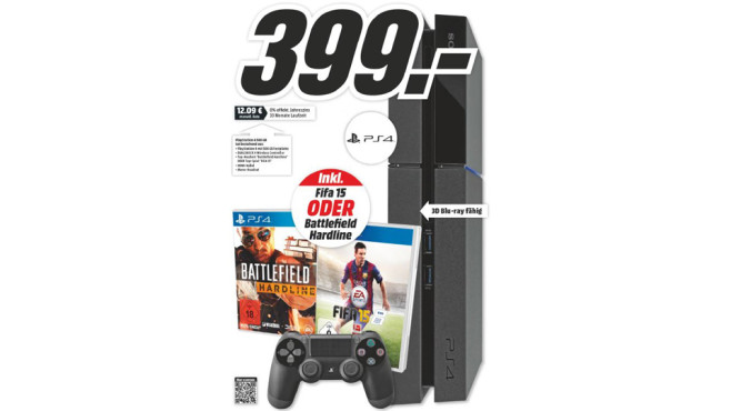 PlayStation 4 + Spiel © Media Markt