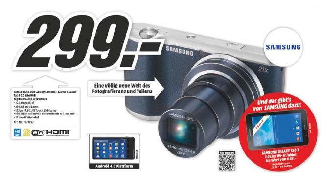 Samsung Galaxy Camera 2 + Samsung Galaxy Tab 3 7.0 Lite ©Media Markt