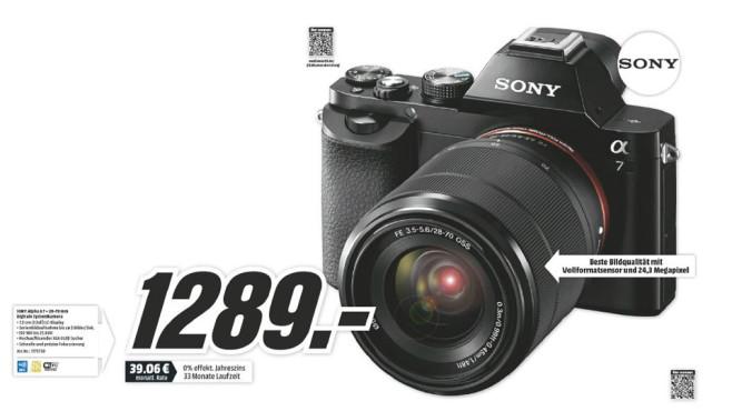 Sony Alpha 7 Kit 28-70 mm ©Media Markt