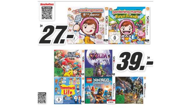 Verschiedene 3DS-Neuheiten ©Media Markt