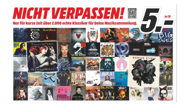 Verschiedene Musik-CDs ©Media Markt