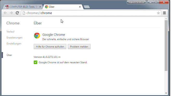 Google Chrome © COMPUTER BILD