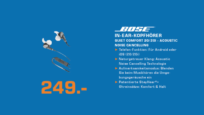 Bose QuietComfort 20i © Saturn