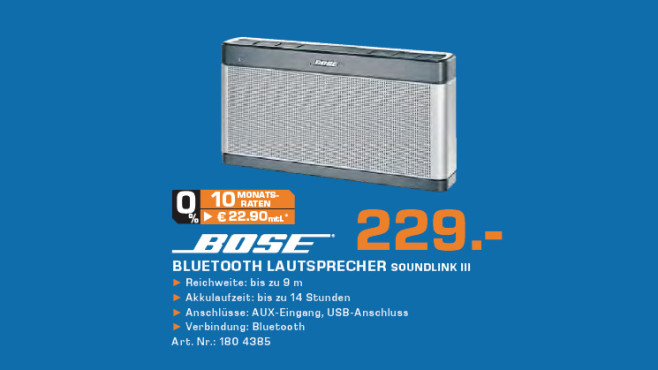 Bose SoundLink III ©Saturn
