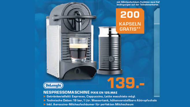 De'Longhi Nespresso Pixie EN 125.MAE Steel ©Saturn