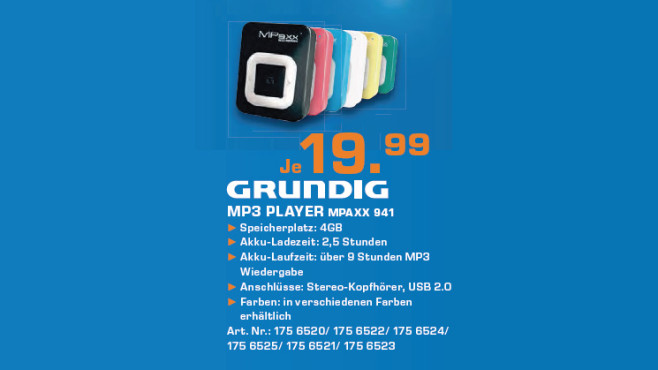 Grundig MPaxx 941 4GB © Saturn