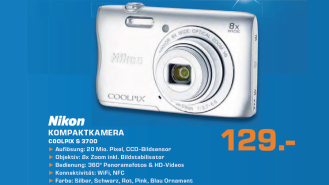 Nikon COOLPIX S3700 © Saturn