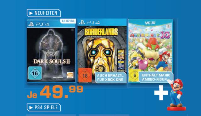 Spiele für PS4 und Wii U ©Saturn