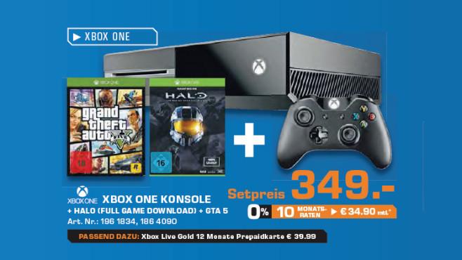 Xbox One plus zwei Spiele ©Saturn