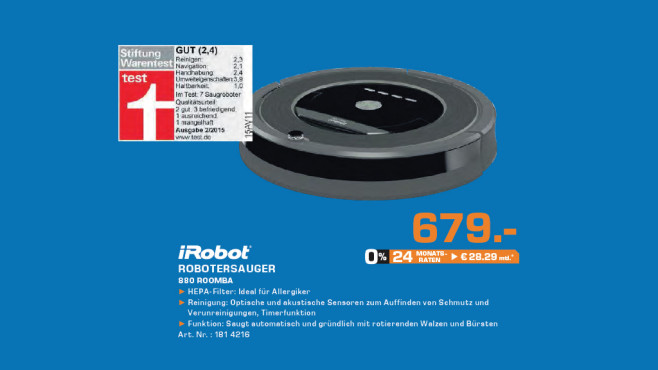 iRobot Roomba 880 © Saturn