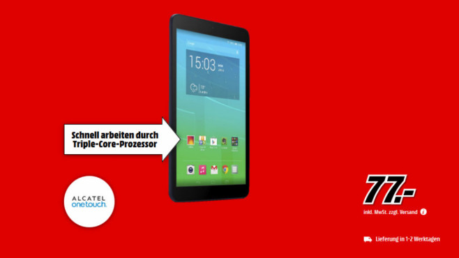Alcatel OneTouch Pixi 8 © Media Markt
