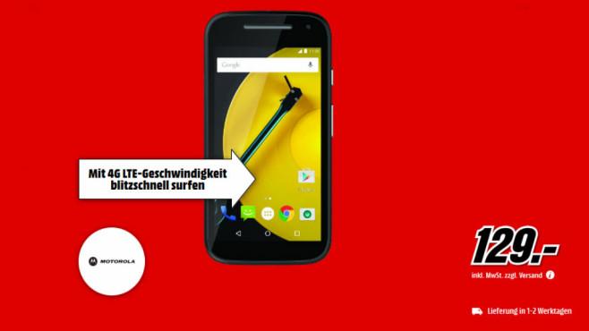 Motorola Moto E (2. Generation) ©Media Markt