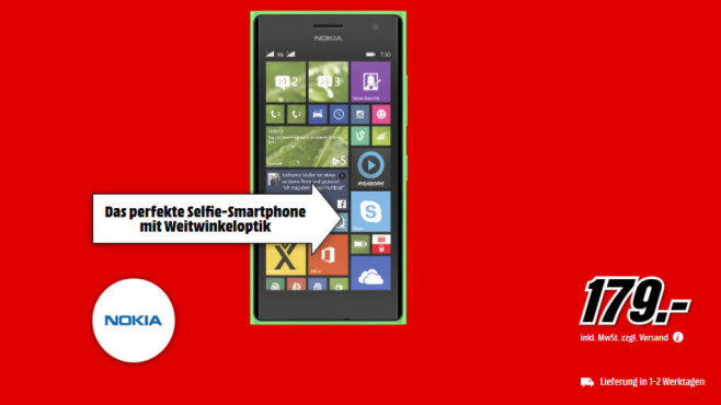 Nokia Lumia 730 Dual Sim ©Media Markt