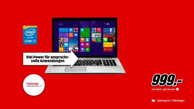 Toshiba Satellite P70-B-10U © Media Markt