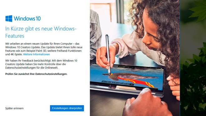 Windows 10 Creators Update ©COMPUTER BILD