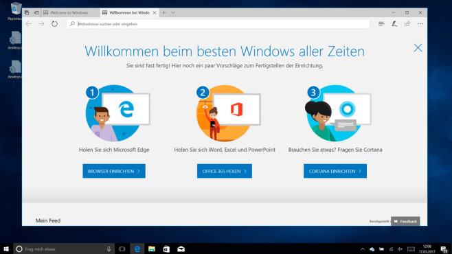 Windows 10: Willkommen ©COMPUTER BILD