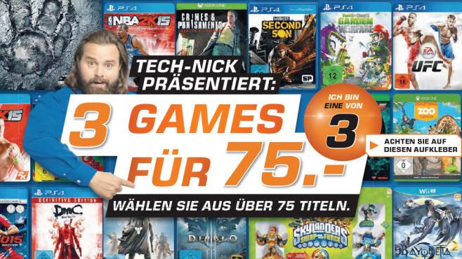 3 Games für 75 Euro ©Saturn