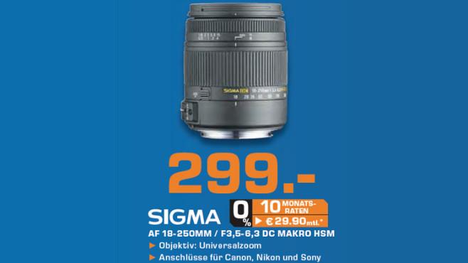 Sigma 18-250mm f3.5-6.3 DC Makro HSM [Minolta/Sony] ©Saturn
