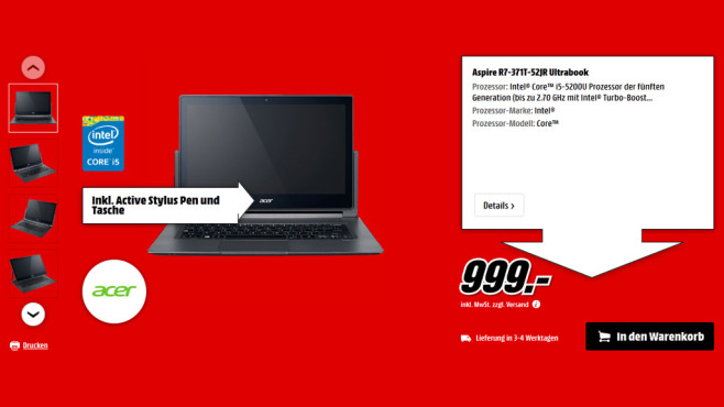 Acer Aspire R7-371T-52JR © Media Markt