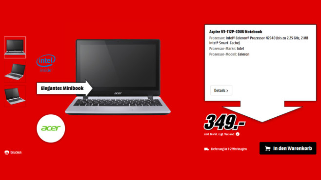 Acer Aspire V3-112P-C0UU ©Media Markt