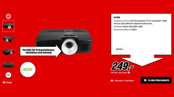 Acer X113PH ©Media Markt