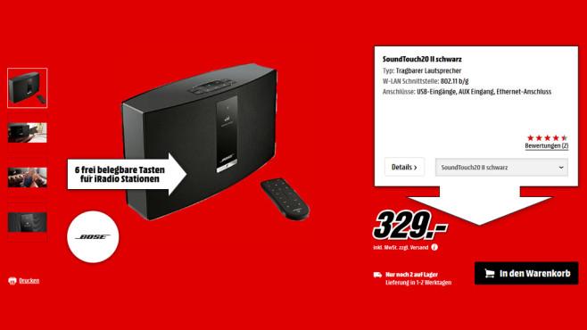 Bose Soundtouch 20 Serie II ©Media Markt