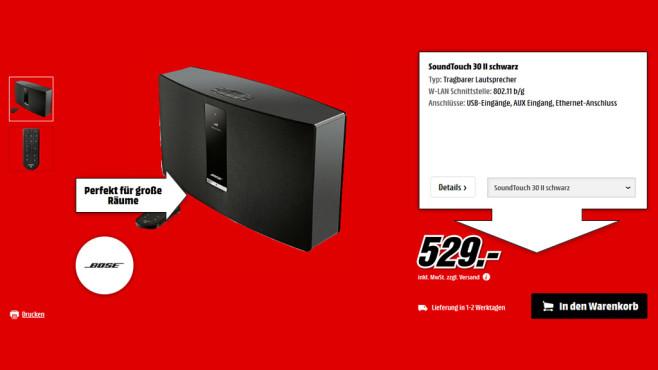 Bose Soundtouch 30 Serie II ©Media Markt