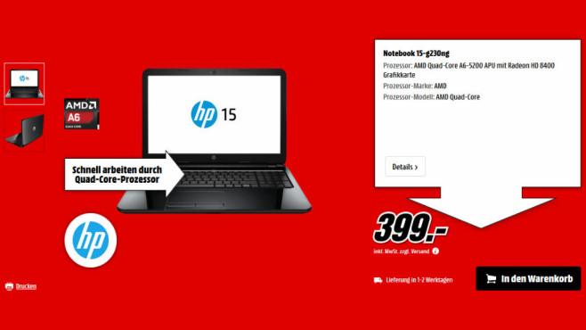 HP 15-g230ng ©Media Markt