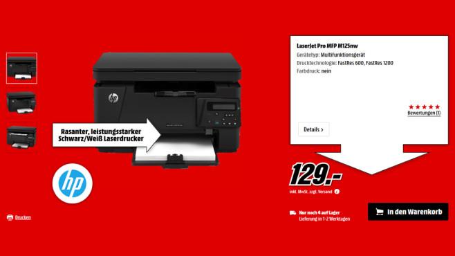 HP LaserJet Pro MFP M125nw ©Media Markt