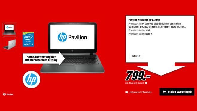 HP Pavilion 15-p233ng ©Media Markt